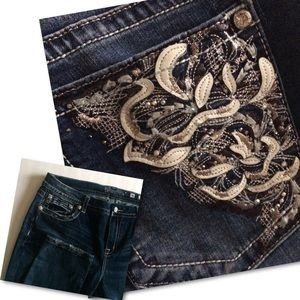 Miss Me Mid-Rise Easy Skinny Jeans Embellished